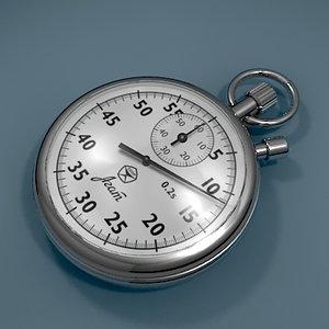 3d stop watch stopwatch