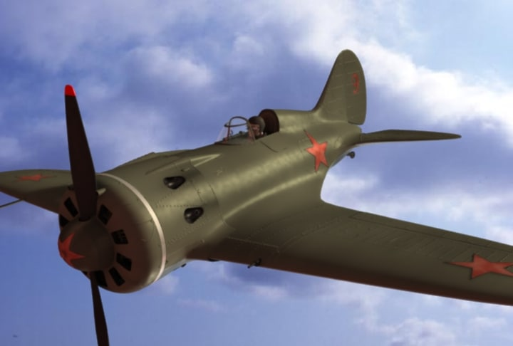 russia polikarpov i-16 fighter plane 3d model