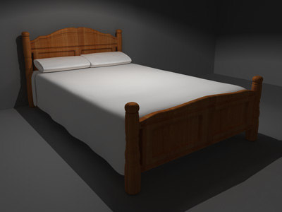 maya bed modeled