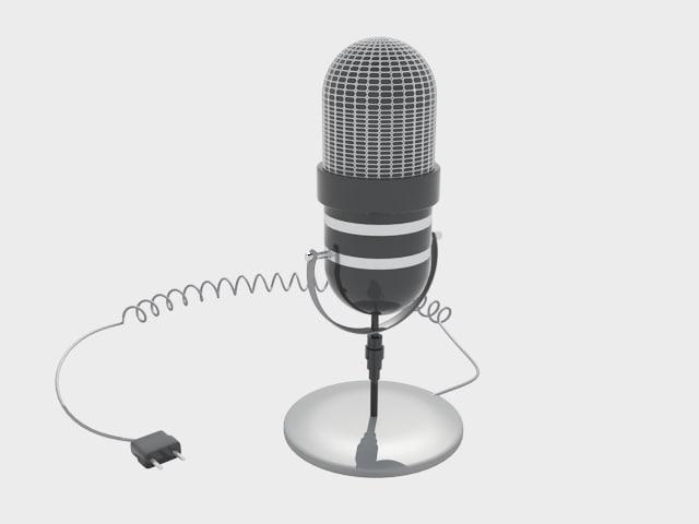 microphone 3d model
