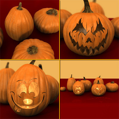 lwo pumpkins scary