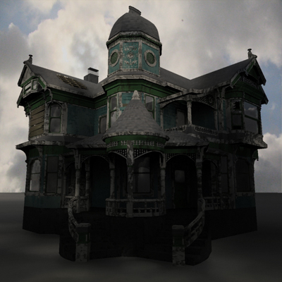 3d model haunted house