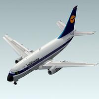 3d 737-200 plane lufthansa