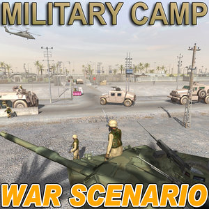 3d war scenario multi format