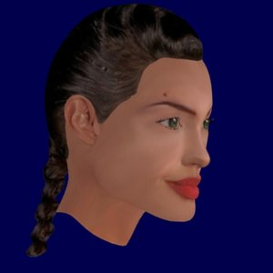 Angelina Jolie High Quality 3D Model