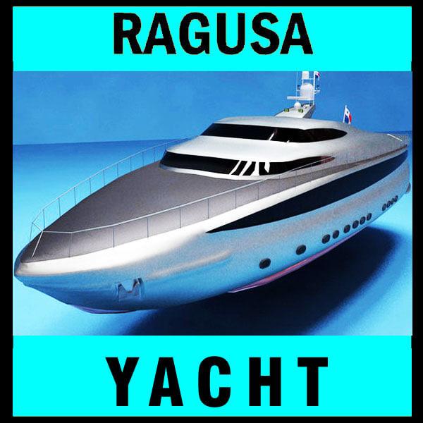 silver yacht 3d model