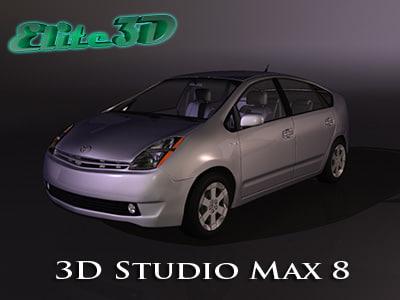 toyota prius 3d model