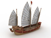 Fun Park Pirate Ship Slide - High Quality 3d model