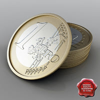1 euro 3d model