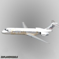 b717-200 bangkok airways 3d model