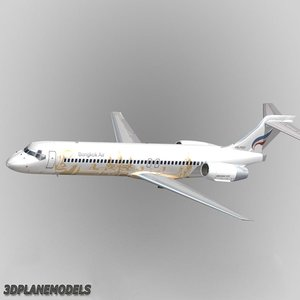 b717-200 bangkok airways 3d model