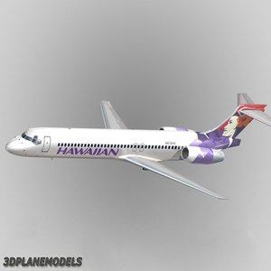 b717-200 airliner hawaiian 3d max