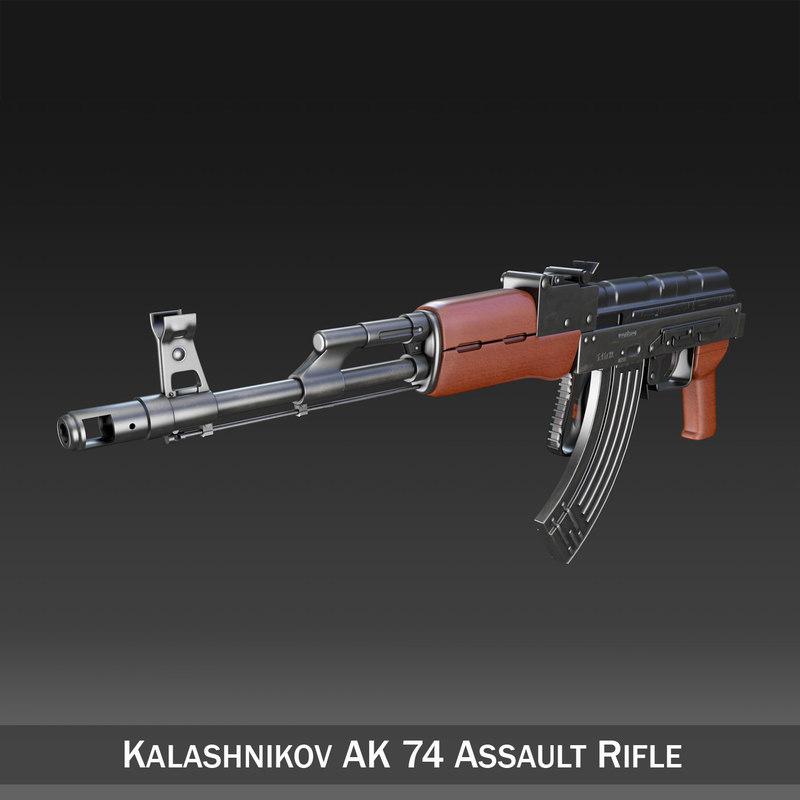 3d model of ak-74 kalashnikov rifle assault