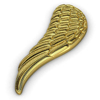 angel wing pendant 3ds