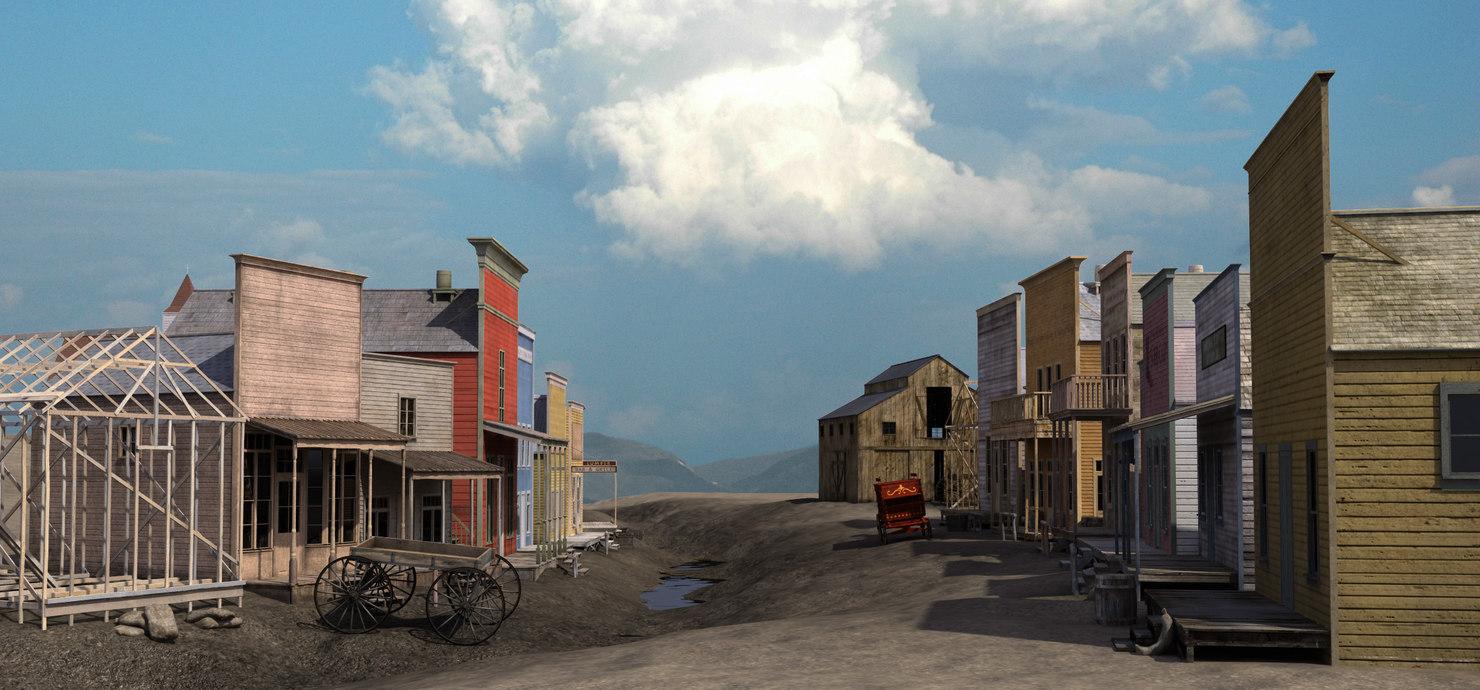 western town 3d model