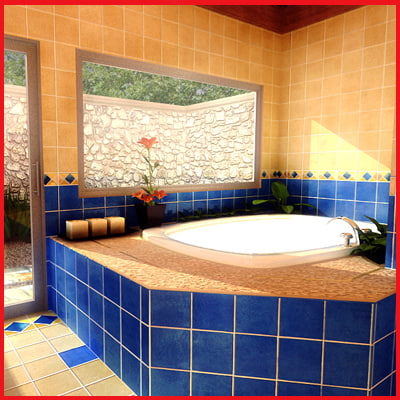 bathroom jacuzzi 3ds