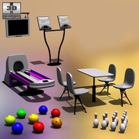 bowling set 3d model
