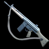 weapon g3 rifle 3d max