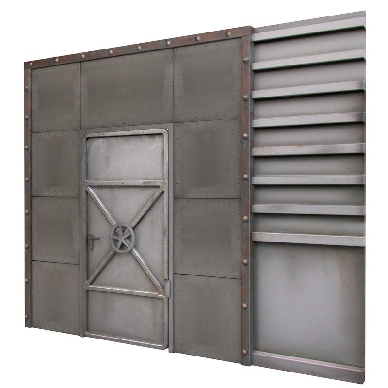 sc 1 st  TurboSquid & 3d model reinforced metal door