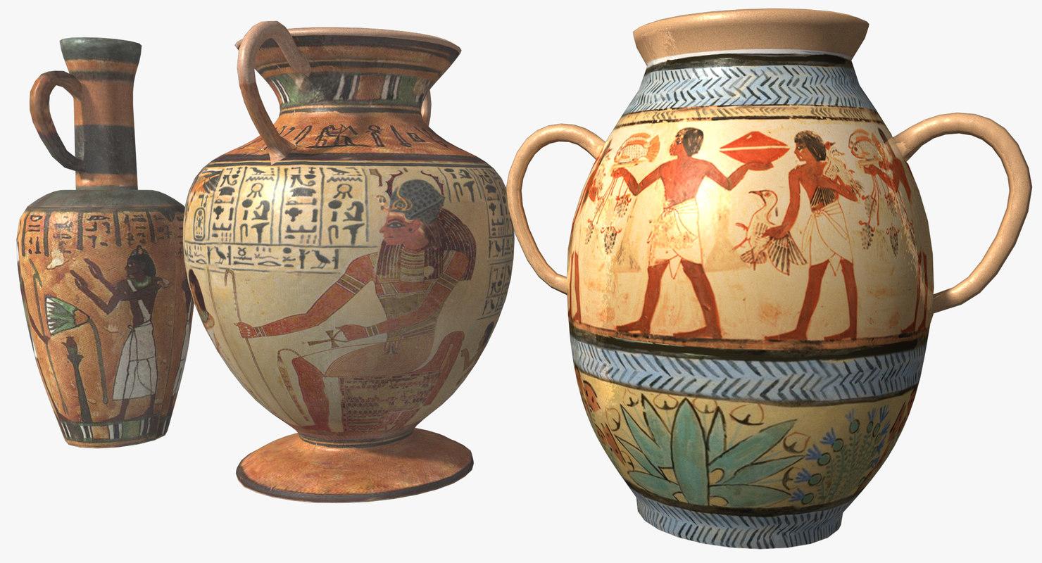 maya egyptian urns
