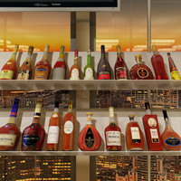 3ds max 20 cognac bottles