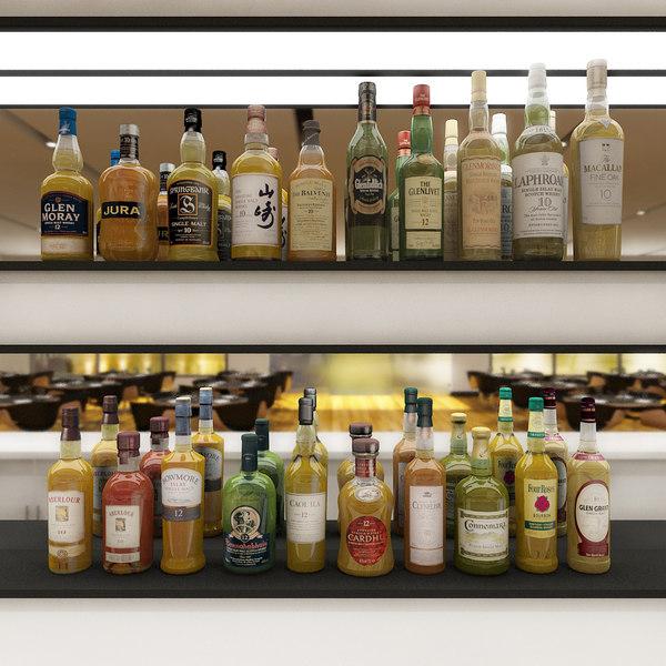 max 20 malt whisky bottles