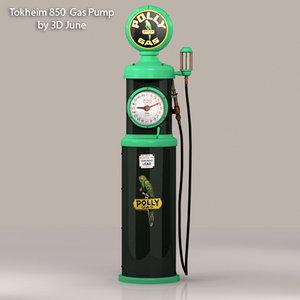 3ds max vintage tokheim pollygas gas pump