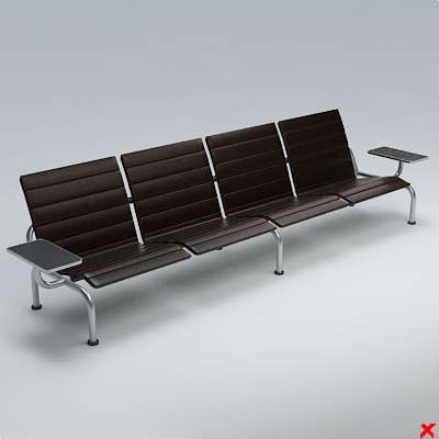 airport chair 3d model