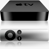 apple tv remote 3d model