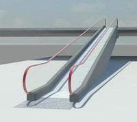 moving walkway 3d model