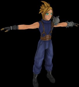 cloud strife final fantasy 3d model