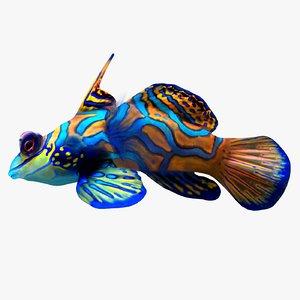 mandarin fish 3d max