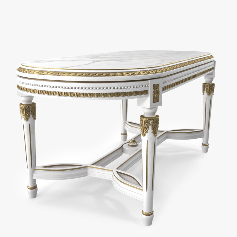 classical coffee table 3d model