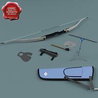 recurve bow 3d model