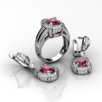 Earrings and Ring set GJ1