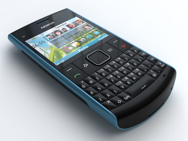3d model nokia x2-01 mobile phone