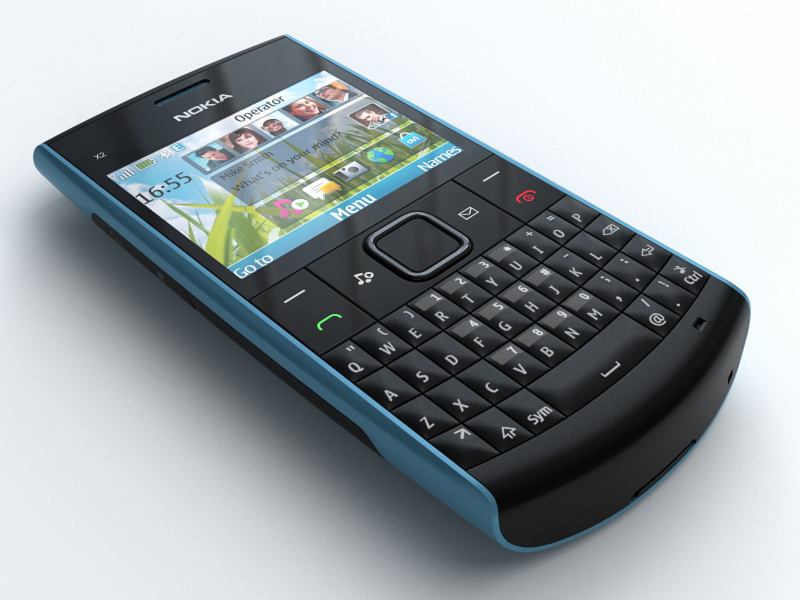 3d model nokia x2-01 mobile phone