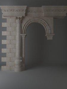 Stone Column & Arch
