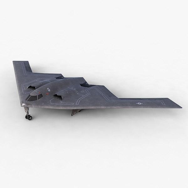3d model b-2 spirit stealth bomber