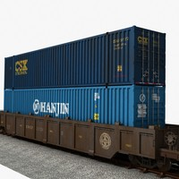 Container Stack Railcar