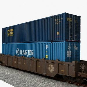 lwo container stack railcar