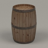 wooden barrel 3d model