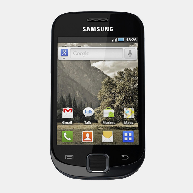 samsung galaxy fit mobile phone 3d model. Black Bedroom Furniture Sets. Home Design Ideas
