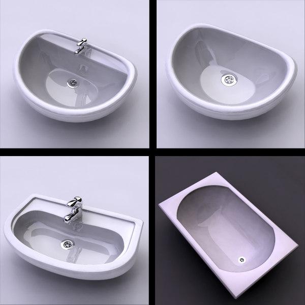 3dsmax sink bathtub