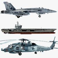 Cvn76  FA-18E & SH-60b