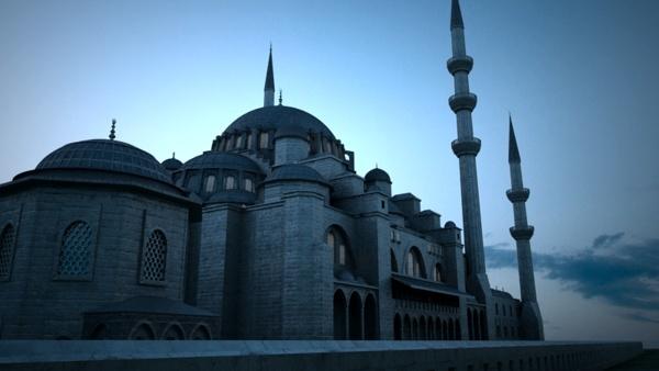 suleymaniye mosque 3d model