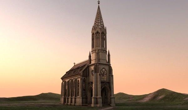 church 3d c4d