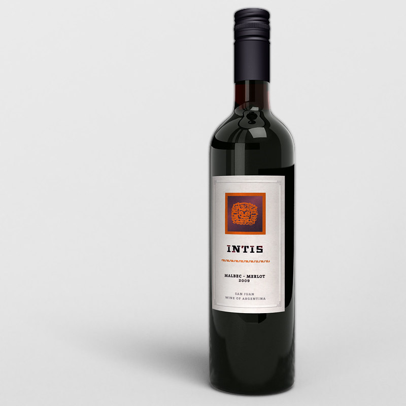 wine bottle 3d model