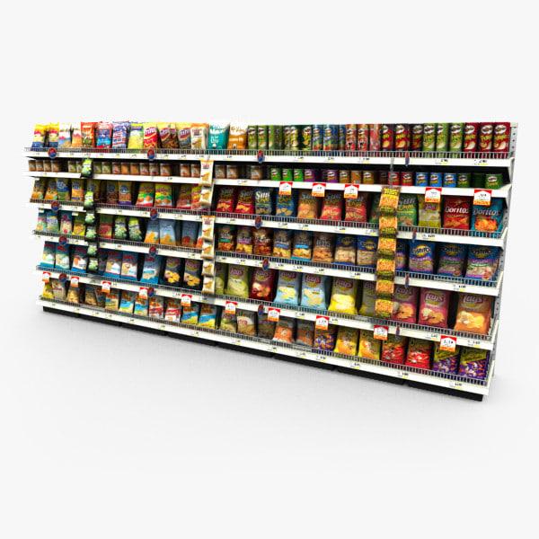 3d model grocery -