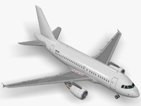 airbus commercial planes 3d model